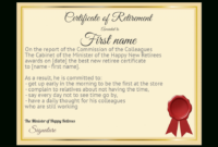 Funny Certificate Retirement Yellow Template Card 1115 inside Awesome Retirement Certificate Templates