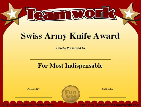 Funny Employee Awards  101 Funny Awards For Employees in Printable Free Most Likely To Certificate Templates