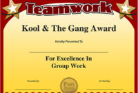 Funny Free Certificate  Teamwork Awards Funny Free for Outstanding Volunteer Certificate Template