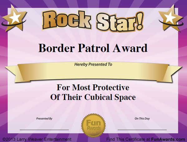 Funny Office Awards  Employee Awards Award Certificates for Amazing Superlative Certificate Template