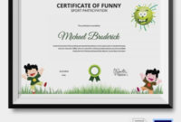 Funny Sports Certificate 5 Word Psd Format Download with regard to Free Funny Certificate Templates For Word