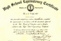 Ged Certificate Template Download  Sample Business Template regarding Ged Certificate Template