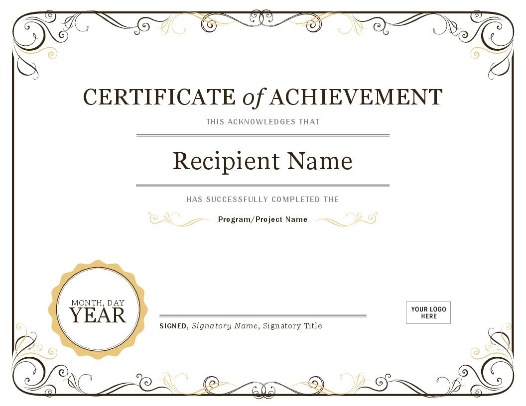 Generic Award Template  Qualads inside Generic Certificate Template