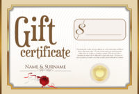 Gift Certificate  Download Free Vectors Clipart Graphics regarding Quality Gift Certificate Log Template