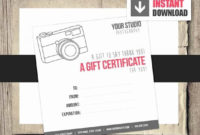 Gift Certificate For Photography Session New Gift Card with Free Photography Session Gift Certificate