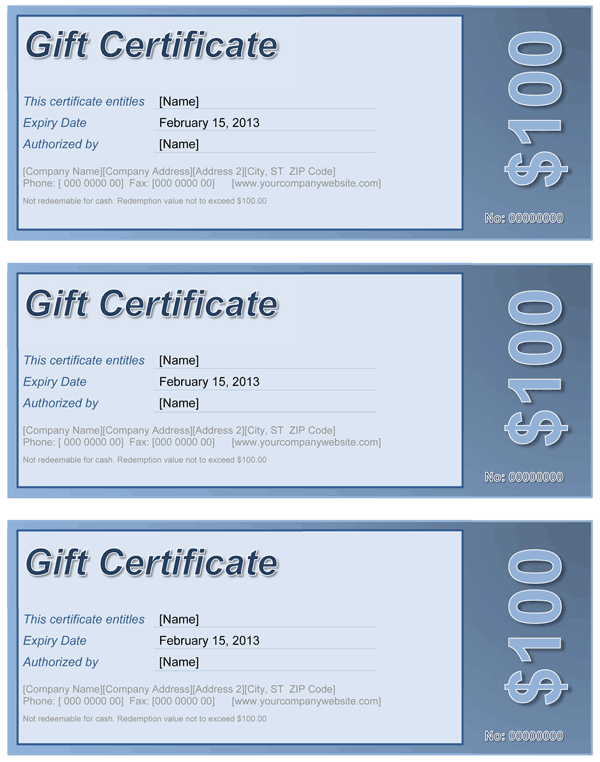 Gift Certificate  Free Template For Word pertaining to Awesome Microsoft Gift Certificate Template Free Word