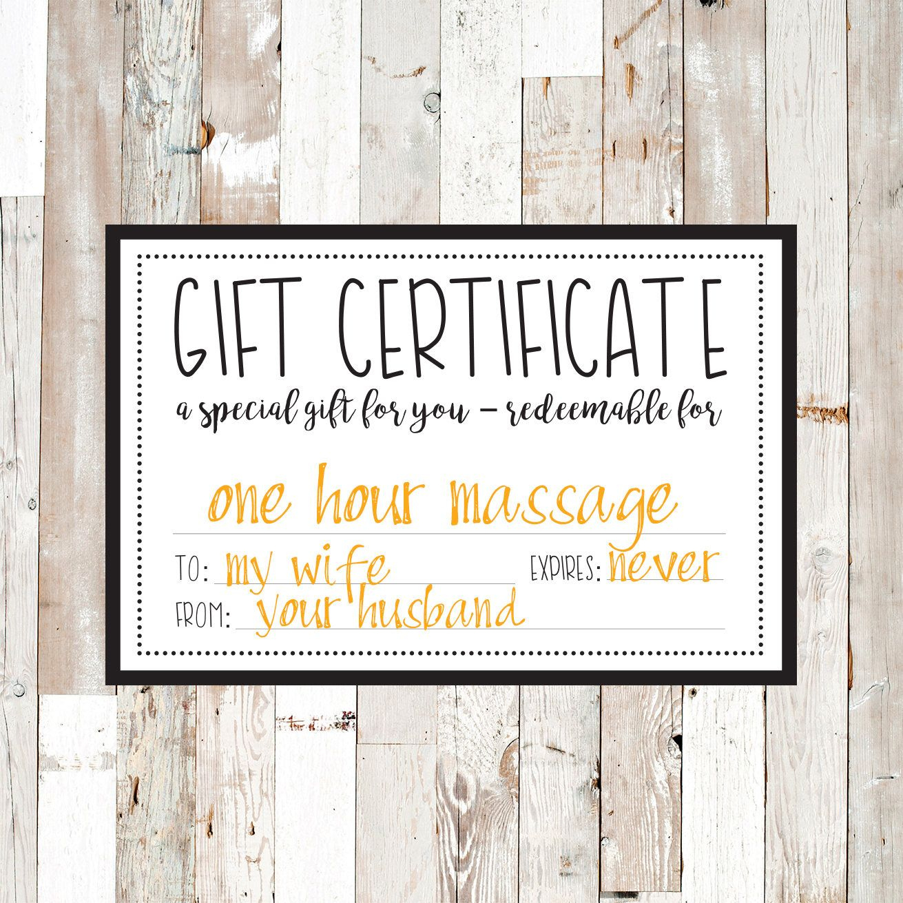 Gift Certificate / Gift Card / Gift / Gifts / Printable in Best Movie Gift Certificate Template