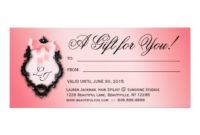 Gift Certificate Hair Salon Stylist Bows Peach Rack Card with Hair Salon Gift Certificate Templates