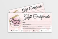Gift Certificate Template Editable Gift Card Gift within Free Printable Hair Salon Gift Certificate Template
