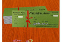 Gift Certificate Template For Nail Salon Visit Www regarding Printable Free Printable Manicure Gift Certificate Template