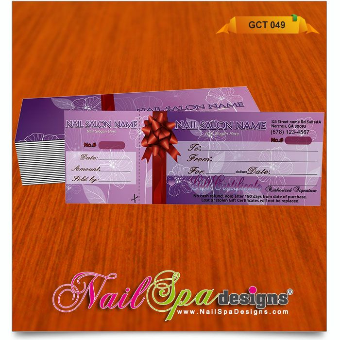 Gift Certificate Template For Nail Salon Visit Www with regard to Free Printable Manicure Gift Certificate Template
