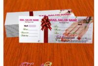 Gift Certificate Template For Nail Salon Visit Www with regard to Nail Gift Certificate Template Free