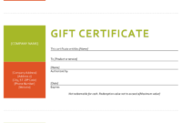 Gift Certificate Template  Sample Gift Certificate for Awesome Microsoft Gift Certificate Template Free Word