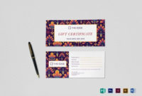 Gift Certificate Template With Gift Certificate Template in Best Gift Certificate Template Indesign