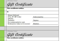 Gift Certificate Template Word  Free Gift Certificate inside Printable Word 2013 Certificate Template