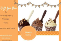 Gift Certificate Templates For A Bakery inside Bake Off Certificate Template