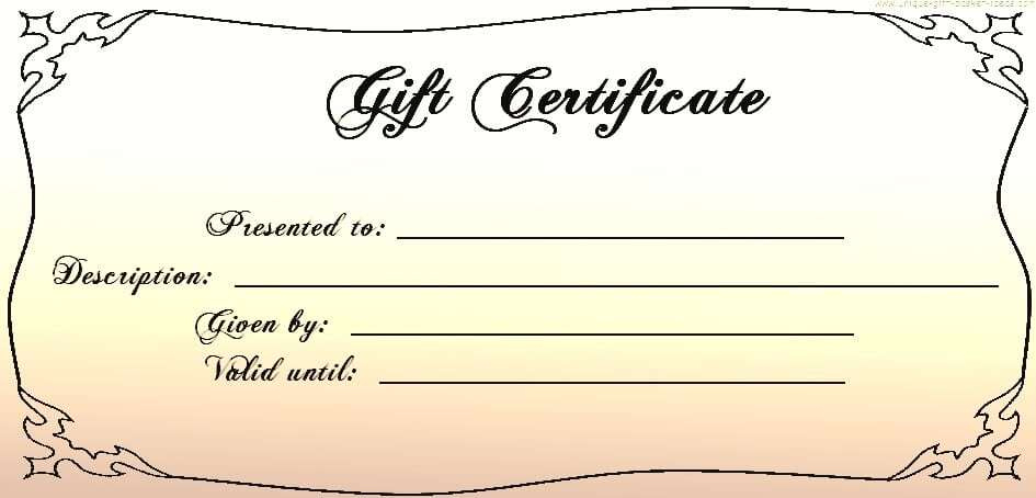Gift Certificate Templates  Word Excel Fomats pertaining to Amazing Donation Certificate Template