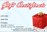Gift Template Blog inside Printable Free Christmas Gift Certificate Templates