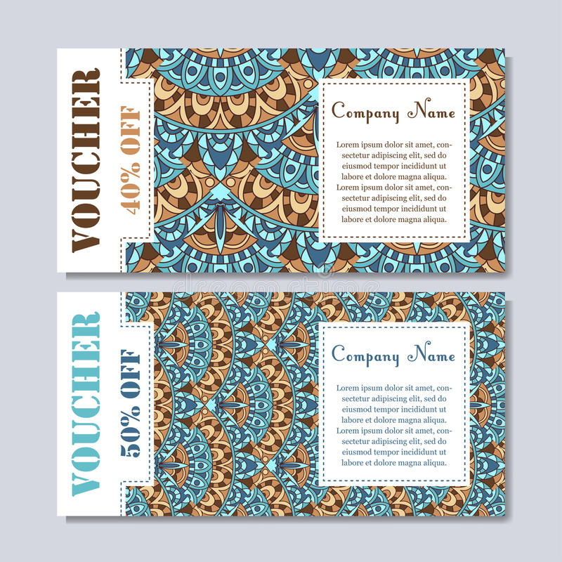 Gift Voucher Template With Mandala Design Certificate For in Magazine Subscription Gift Certificate Template