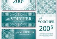 Gift Voucher Template With Mandala Design Certificate For intended for Quality Magazine Subscription Gift Certificate Template