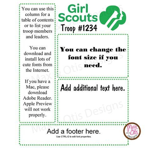 Girl Scout Multilevel Troop Newsletter Template  Girl with regard to Free Cub Scout Pack Meeting Agenda Template