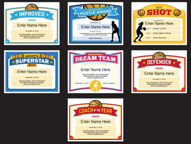 Girls Basketball Certificate Templates  Sports Feel Good intended for Best Coach Certificate Template
