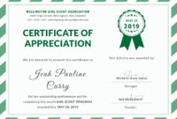 Girlscoutcertificateofappreciationeditabletemplate for Free Track And Field Certificate Templates Free