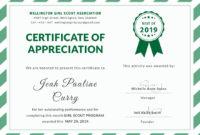 Girlscoutcertificateofappreciationeditabletemplate with regard to Amazing Handwriting Certificate Template 10 Catchy Designs