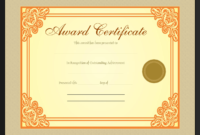 Gold Award Certificate Template  Get Certificate Templates intended for Free Scholarship Certificate Template