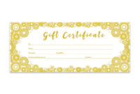 Gold Glitter Confetti Gold Circle Gift Certificate in Best Wife Certificate Template