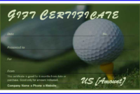 Golf Certificate Templates For Word intended for Golf Certificate Template Free