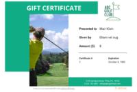 Golf Gift Certificate Template 2  Templates Example intended for Golf Gift Certificate Template