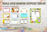 Good Behaviour Certificate  10 Best Template Ideas Free for Good Behaviour Certificate Editable Templates