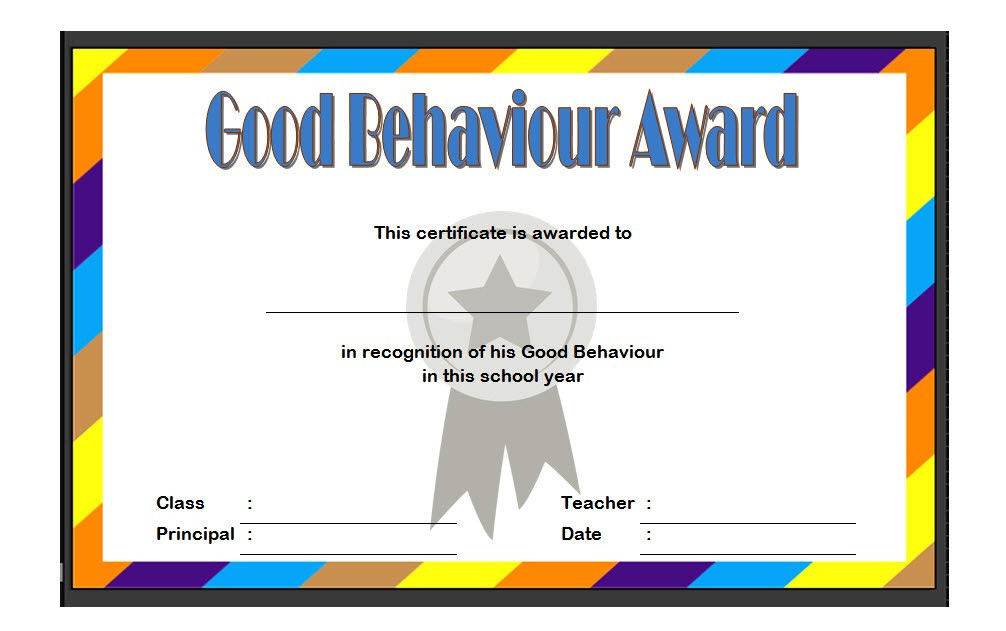 Good Behaviour Certificate Editable Templates 10 Best inside Firefighter Certificate Template Ideas