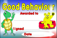 Good Behaviour Certificate with regard to Good Behaviour Certificate Editable Templates