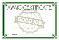 Good Job Certificate Template 9 Great Designs for Tattoo Certificates Top 7 Cool Free Templates