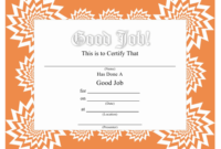 Good Job Certificate Template Download Printable Pdf inside Printable Good Job Certificate Template Free