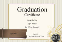 Graduation Certificate Template  Customize Online  Print pertaining to Best Free Printable Graduation Certificate Templates