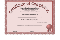 Graduation Certificate Template In Word And Pdf Formats intended for Graduation Certificate Template Word