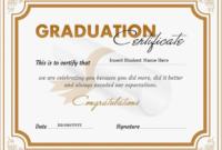 Graduation Certificate Template Word 4  Templates inside Best Graduation Certificate Template Word