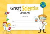 Great Scientist Award Certificate For Powerpoint inside Amazing 10 Science Fair Winner Certificate Template Ideas