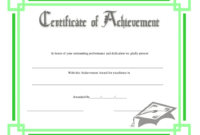 Green Certificate Of Achievement Template Download throughout Awesome Outstanding Performance Certificate Template