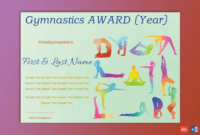 Gymnastic Award Certificate  Pdf  Word  Gct with Gymnastics Certificate Template