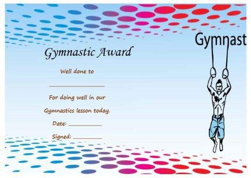 Gymnastic Certificate Creative Certificates Free To with regard to Gymnastics Certificate Template
