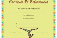 Gymnastics Floor Exercise Certificate Of Achievement with Awesome Gymnastics Certificate Template