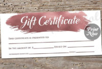 Hair Salon Gift Certificate Template Free For Your Needs with Hair Salon Gift Certificate Templates