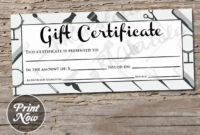 Hair Salon Printable Gift Certificate Template Spring within Beauty Salon Gift Certificate