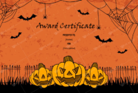 Halloween Award Certificates  5 Printables For Microsoft for Quality Halloween Costume Certificate