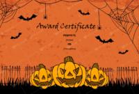 Halloween Award Certificates  5 Printables For Microsoft with regard to Amazing Halloween Costume Certificates 7 Ideas Free