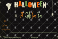 Halloween Gift Certificate For Word With Images regarding Halloween Gift Certificate Template Free